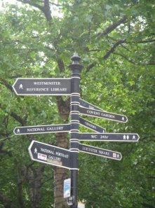 Leicester square panneaux Londres UK