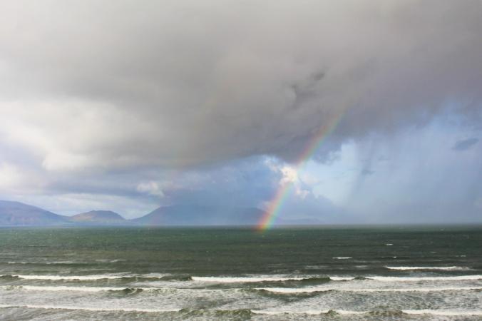 Inch beach Irlande arc-en-ciel