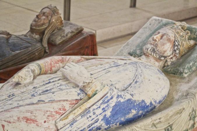 gisants Richard coeur de Lion et Isabelle d'Angoulême Fontevraud