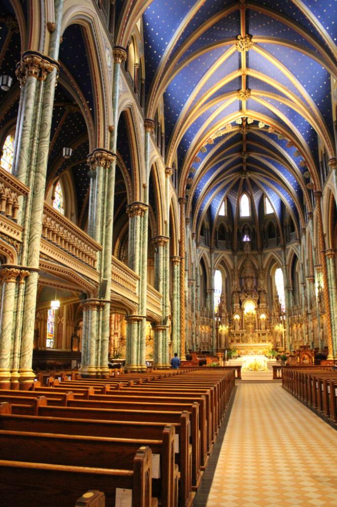 cathédrale Notre Dame intérieur Ottawa
