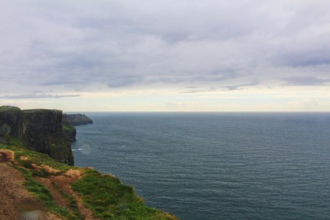 falaises de Moher pluie Irlande