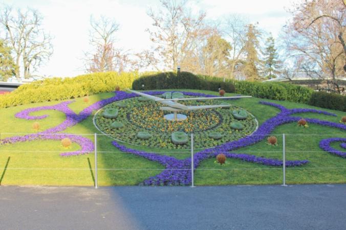 horloge fleurie Genève