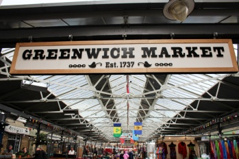 Greenwich market sign