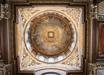 painted hall dome Greenwich Londres