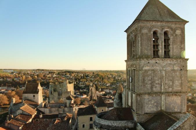 vue donjon Chauvigny