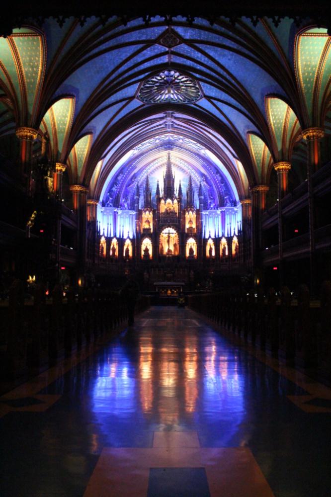basilique Notre Dame intérieur Montréal