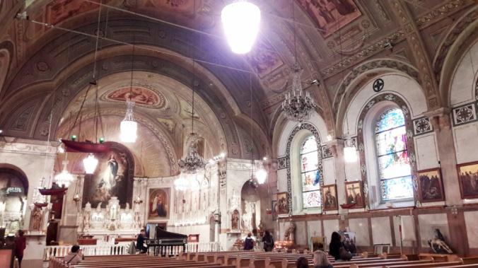 intérieur chapelle notre dame bonsecours Montréal