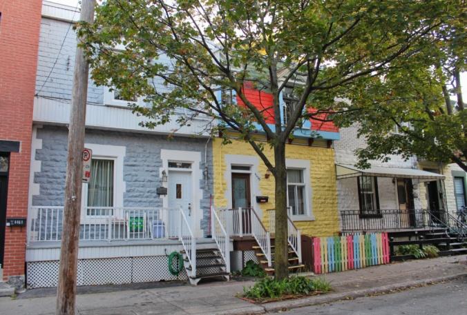 maisons colorées Montréal
