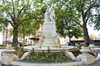 Leicester square Shakespeare Londres