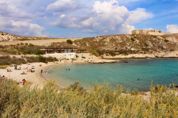 plage St Estève îles du Frioul
