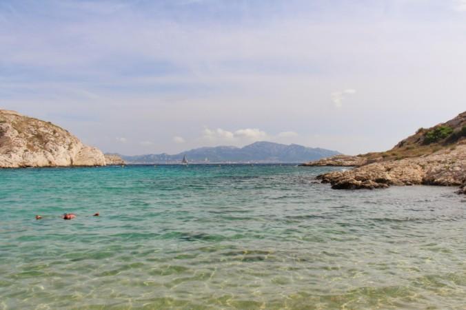 vue de la plage St Estève îles du Frioul