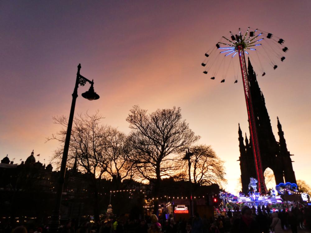 marché de Noël Edimbourg