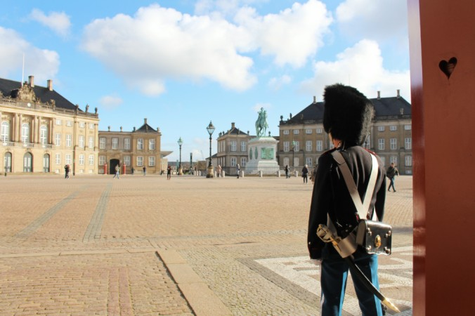 Amalienborg guérite Copenhague