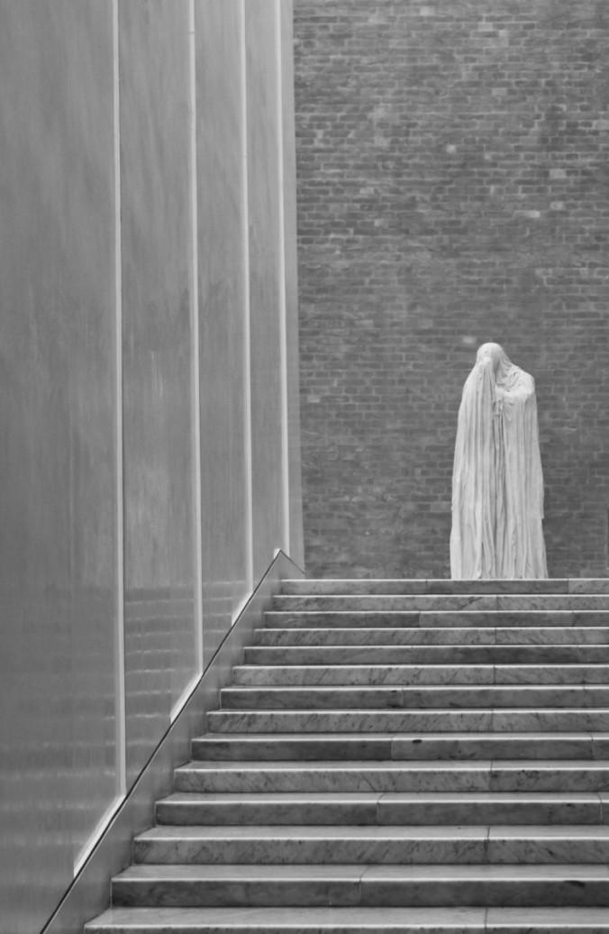 Glyptotek pèlerin noir et blanc Copenhague