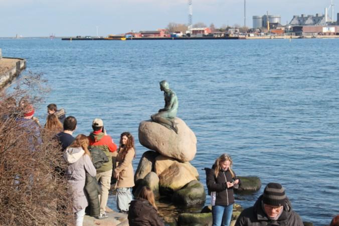 petite sirène Copenhague touristes