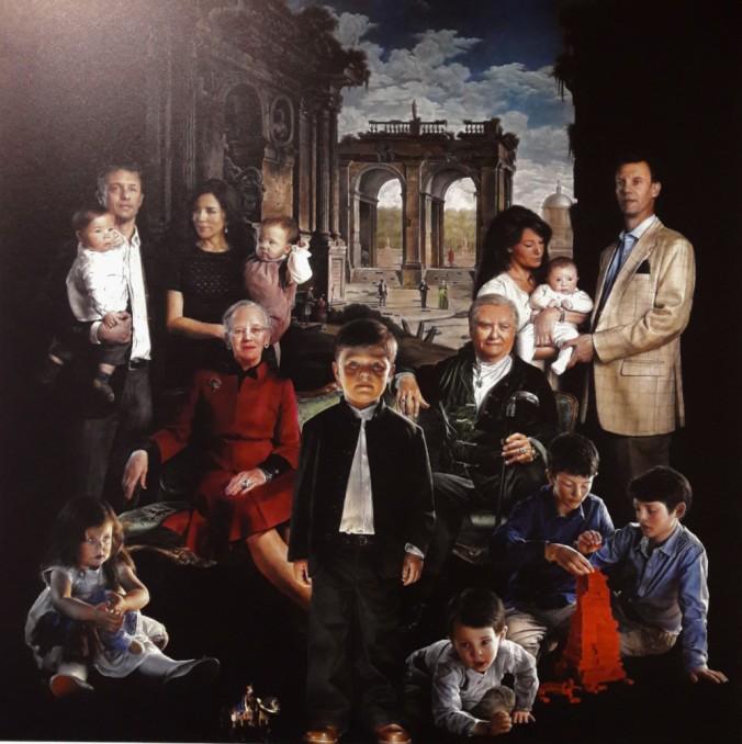 portrait famille royale Amalienborg Copenhague