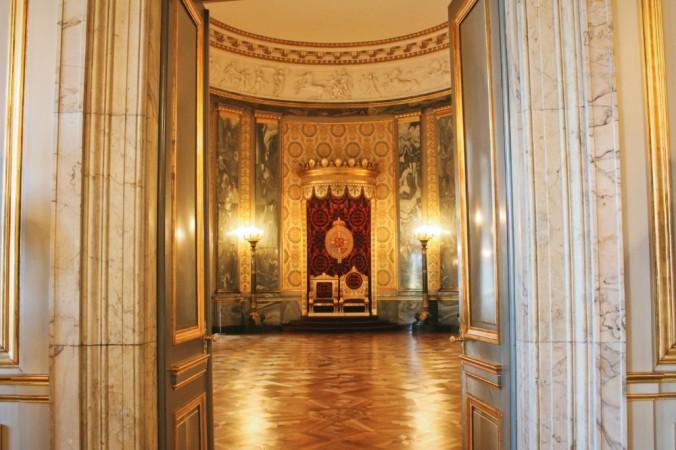salle du trône Christianborg Copenhague