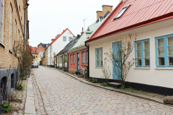 petite rue de Lund Suède