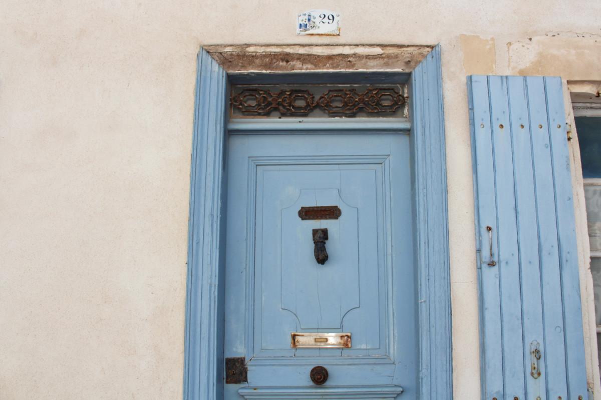 porte bleue ars en ré